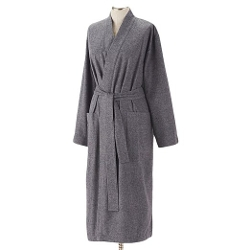 Coyuchi - Organic Cotton Heather Flannel Bathrobe