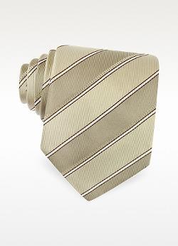 Fendi - Diagonal Stripe Signature Silk Tie