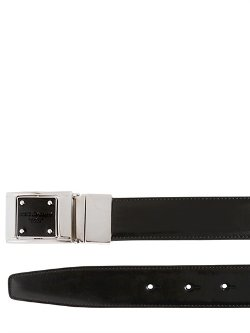 Dolce & Gabbana - Reversible Brushed Leather Belt