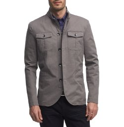 Kenneth Cole New York - Full-Zip Military Blazer