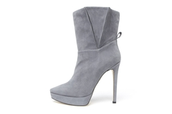 Tania Spinelli - Leather Side Pleat Ankle Boots