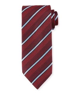 Ermenegildo Zegna  - Denim-Striped Silk Tie