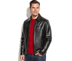 Izod  - Leather Bomber Jacket