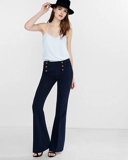 Express - Mid Rise Sailor Flare Pants