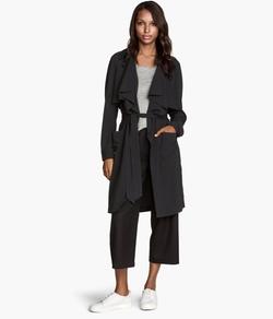 H&M - Draped Lapels Trenchcoat