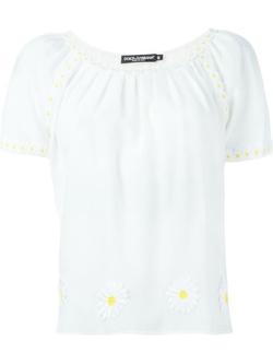 Dolce & Gabbana - Daisy Appliqué Blouse