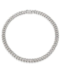 Adriana Orsini - Pavé Crystal Small Chain Necklace