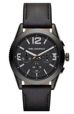 Karl Lagerfeld - Kurator Chronograph Leather Strap Watch