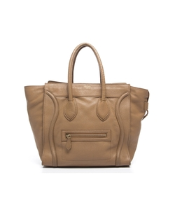 Celine - Leather Mini Luggage Tote Bag