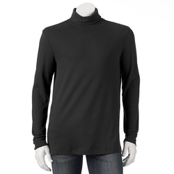 Croft & Barrow  - Classic-Fit Solid Interlock Turtleneck Shirt