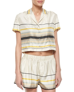 Rag & Bone  - Layne Short-Sleeve Striped Top
