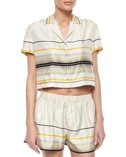 Rag & Bone  - Layne Short-Sleeve Striped Top