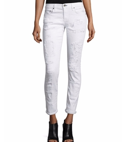 Rag & Bone/Jean - Dre Distressed Cropped Skinny Jeans
