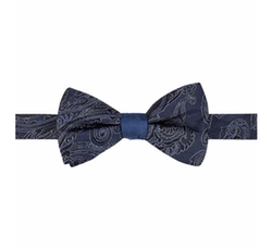 Ryan Seacrest Distinction - Paisley Stripe Bow Tie