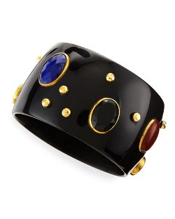 Ashley Pittman	 - Multi-Stone Kutona Dark Horn Bangle