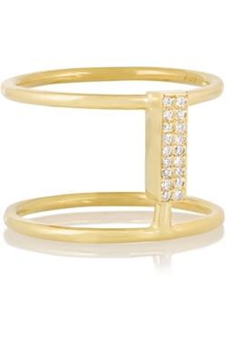 Ileana Makri  - Connected Gold Diamond Ring