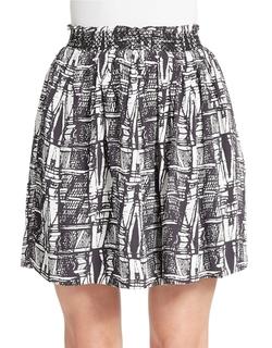 Essentiel  - Printed A-Line Skirt
