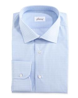 Brioni  - Grid-Check Dress Shirt