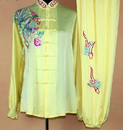 China Cart - Silk Kung Fu Tai Chi Embroidered Phoenix Clothing Complete Set