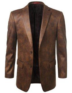 Monday Suit  - Leather Look Sport Coat Blazer Jacket
