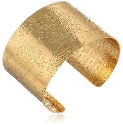 Mercedes Salazar  - Gold-Plated Brass Cuff Bracelet