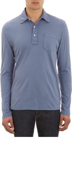 SAVE KHAKI  - Long-Sleeve Polo