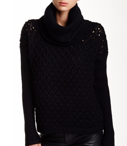 Alice + Olivia - Chunky Wool Turtleneck Sweater