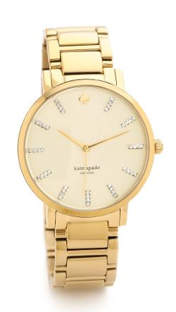 Kate Spade New York  - Gramercy Grand Watch With Crystal Markers