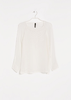 Mango - Embroidered Chiffon Blouse
