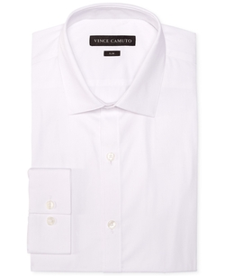Vince Camuto - Slim-Fit Pincord Solid Dress Shirt