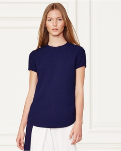 Ralph Lauren - Lana Crepe Short-Sleeve Top