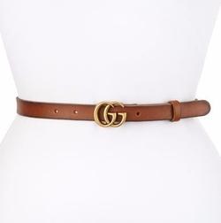 Gucci - Thin GG Leather Belt