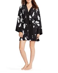 Lauren Ralph Lauren  - Floral Print Silk Kimono