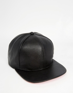 Asos - Faux Leather Snapback Cap