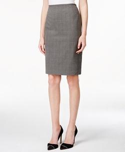 Calvin Klein - Plaid Pencil Skirt