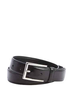 Prada  - Leather Rectangular Buckle Belt