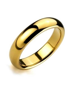 Bling Jewelry -  High Polish Tungsten Band Ring