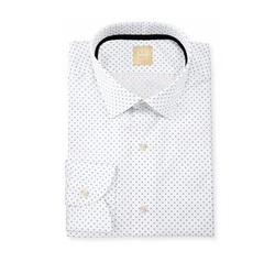 Ike Behar - Dot-Print Dress Shirt
