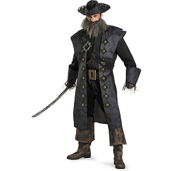 Disguise Costumes - Adult Deluxe Blackbeard Costume