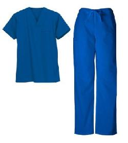 Natural Uniforms  - Women Mock Wrap/Flare Pant Medical Scrub Set