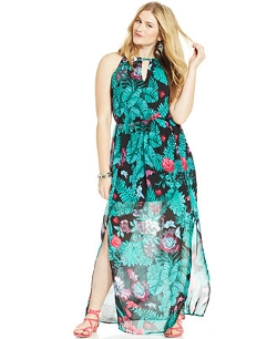 Stevie and Lindsay - Sleeveless Printed Maxi Dress