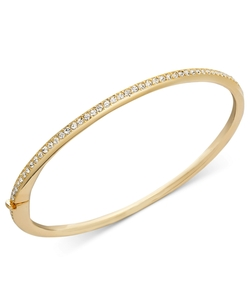 Eliot Danori  - Gold-Tone Thin Crystal Bracelet