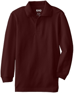 KHQ - Long Sleeve Pique Polo Shirt