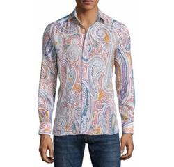 Etro - Paisley-Print Long-Sleeve Sport Shirt