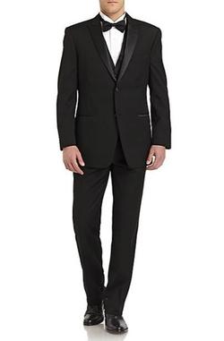 Ike Behar  - Wool Satin Tuxedo Suit