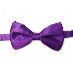 TopTie  - Solid Satin Bow Tie
