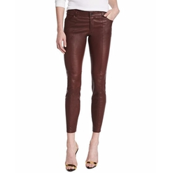 Haute Hippie  - Low-Rise Leather Skinny Pants