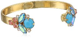 Sorrelli  - Reverse Crystal Cluster Gold-Tone Cuff Bracelet