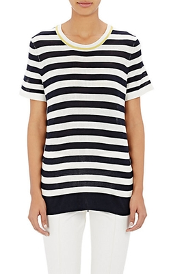 M.Patmos - Striped Short-Sleeve Sweater