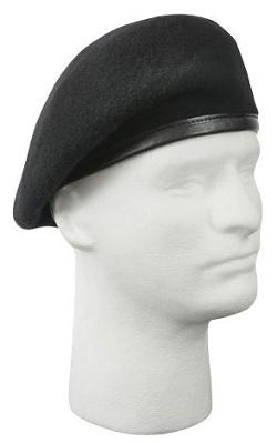 Rothco  - Black Inspection Ready No Flash Beret